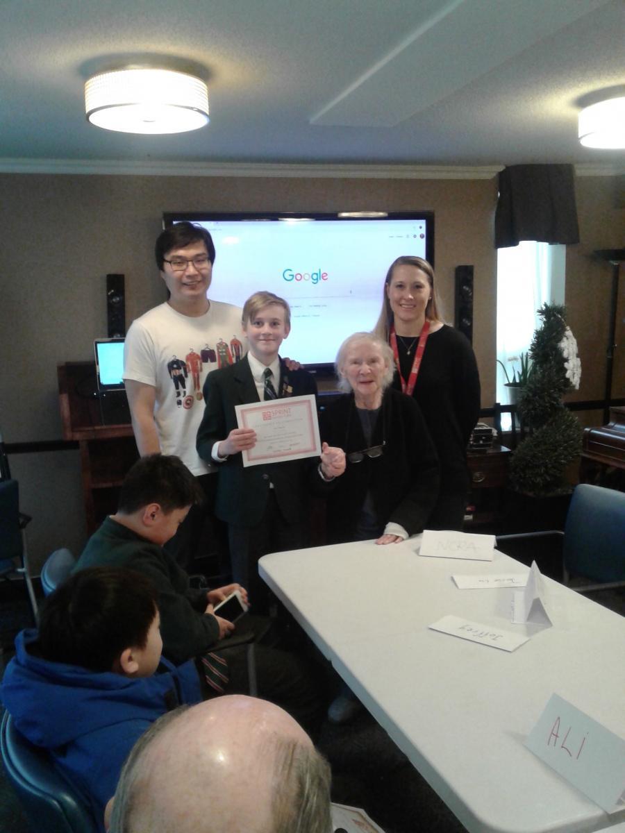 Presentation to student of Crescent School