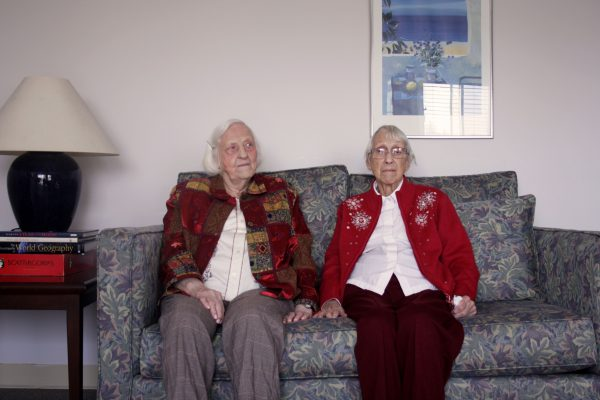 Norma and Faye, sisters living at Ewart Angus SPRINT Homes